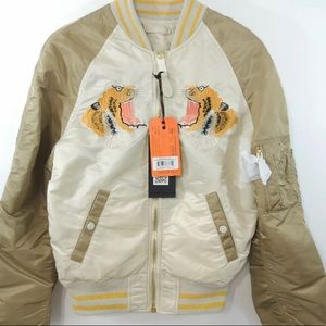 NWT Alpha Industries Tiger Bomber Jacket Size XS